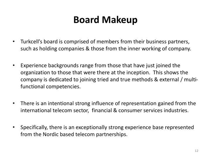 Board Makeup
