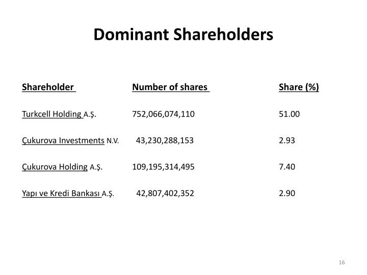 Dominant Shareholders