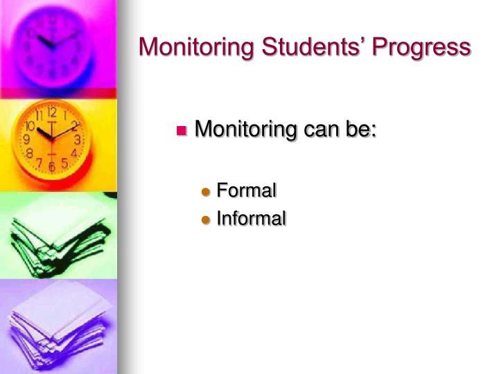 Monitoring Students' Progress