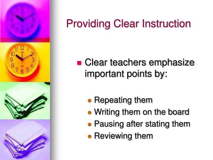 Providing Clear Instruction