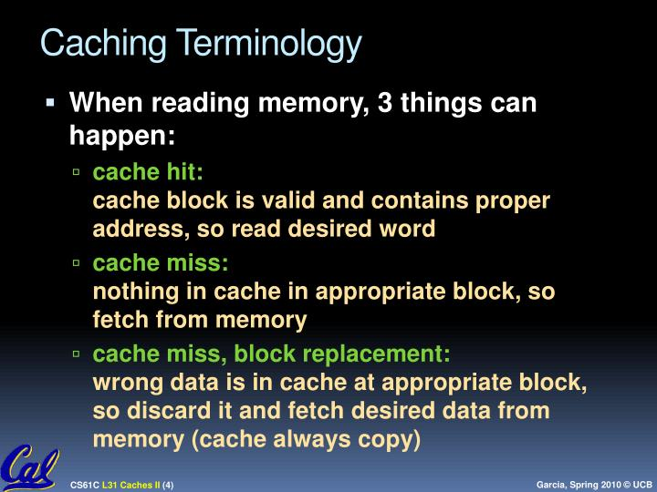 Caching Terminology