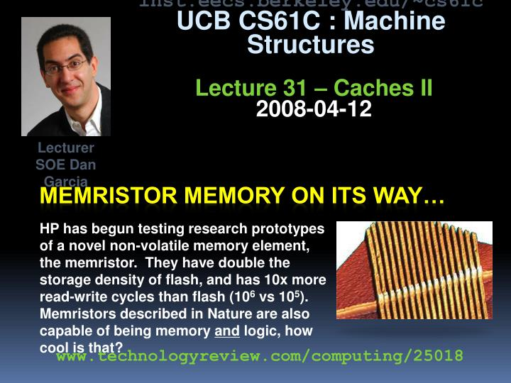 Memristor memory on its way