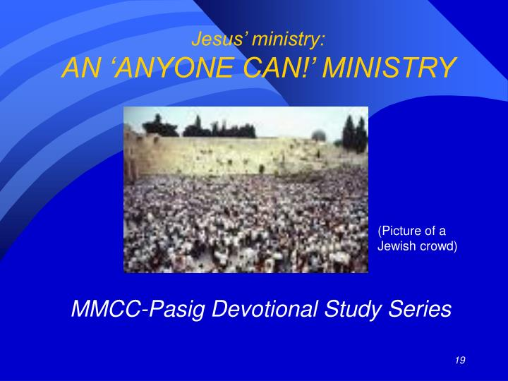 Jesus' ministry: