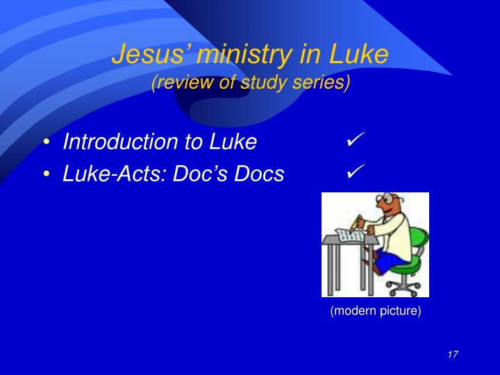 Jesus' ministry in Luke