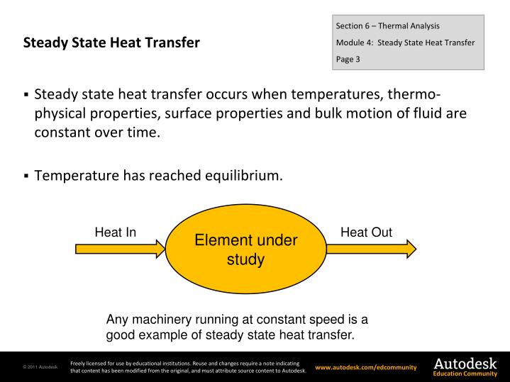 Steady state heat transfer