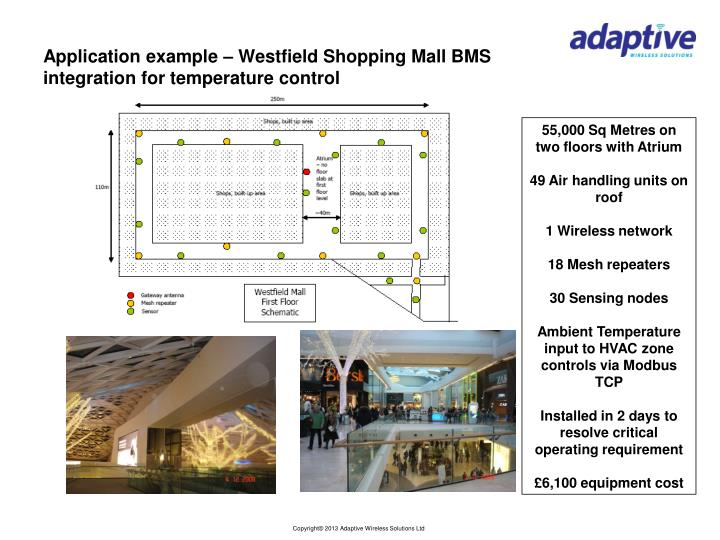 Application example – Westfield Shopping Mall BMS