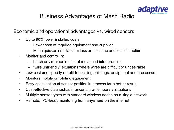 Business Advantages of Mesh Radio