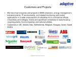 customers and projects
