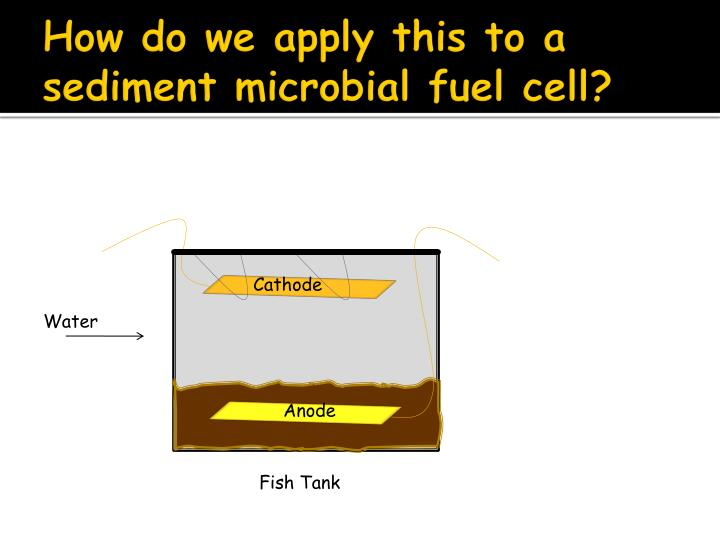 How do we apply this to a sediment microbial fuel cell?