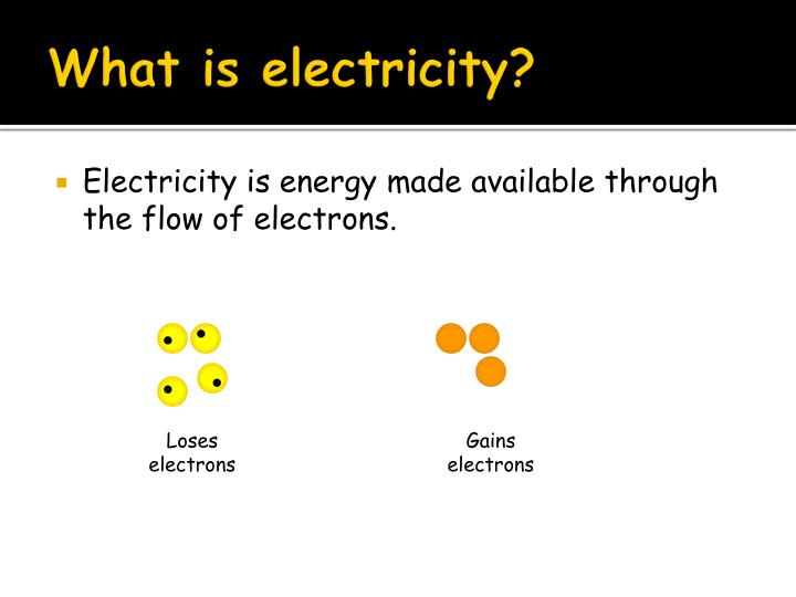 What is electricity