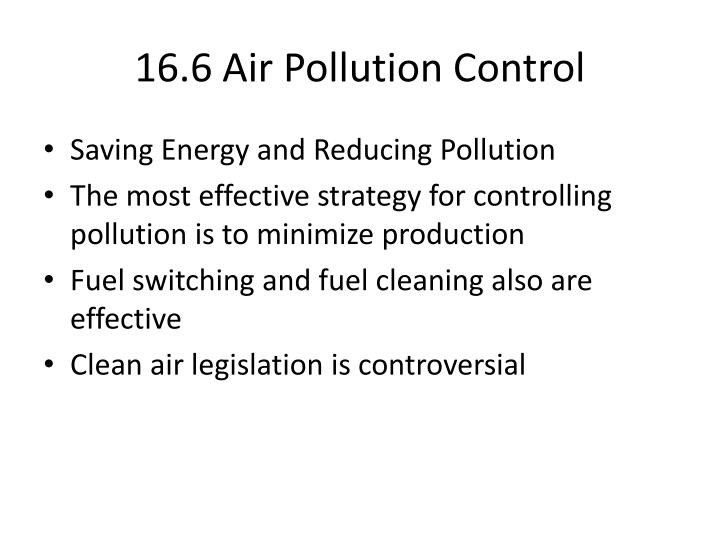 16.6 Air Pollution Control