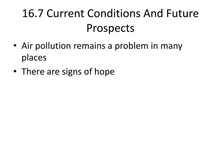 16.7 Current Conditions And Future Prospects