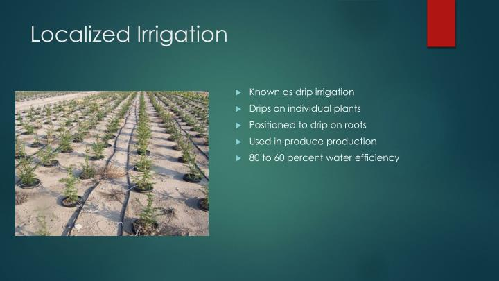 Localized Irrigation