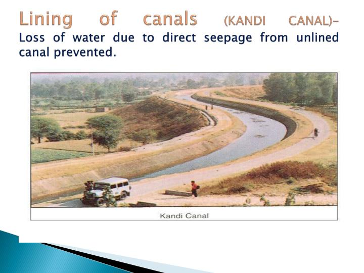 Lining of canals