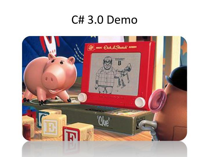 C# 3.0 Demo