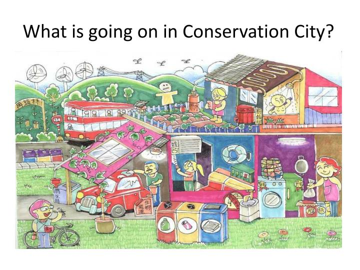 What is going on in Conservation City?