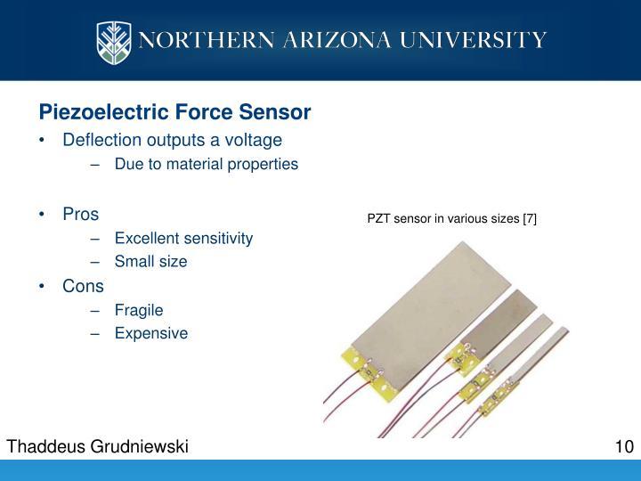 Piezoelectric Force Sensor
