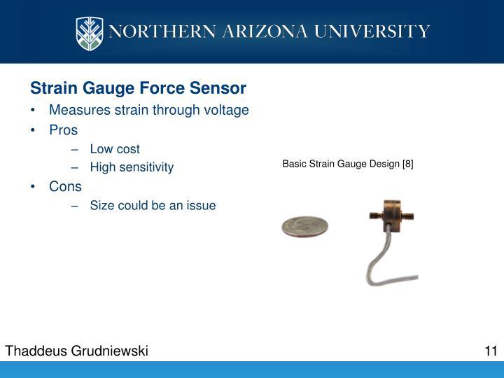 Strain Gauge Force Sensor