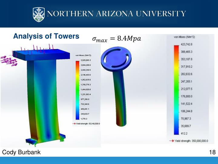 Analysis of Towers