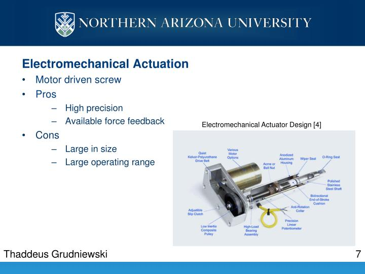 Electromechanical Actuation