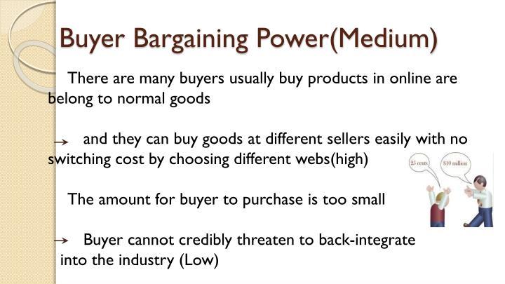 Buyer Bargaining Power(Medium)