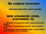 new advanced level statement is