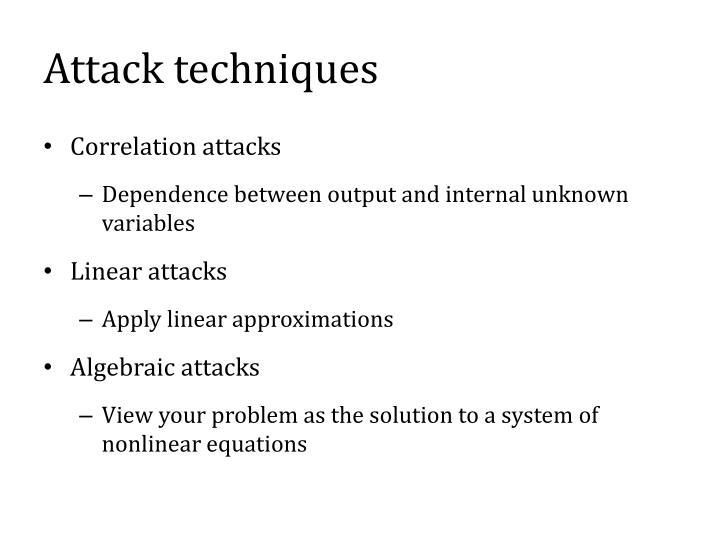 Attack techniques