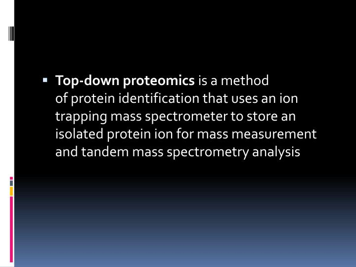 Top-down proteomics