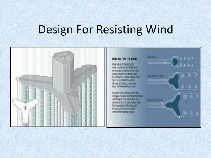 Design For Resisting Wind