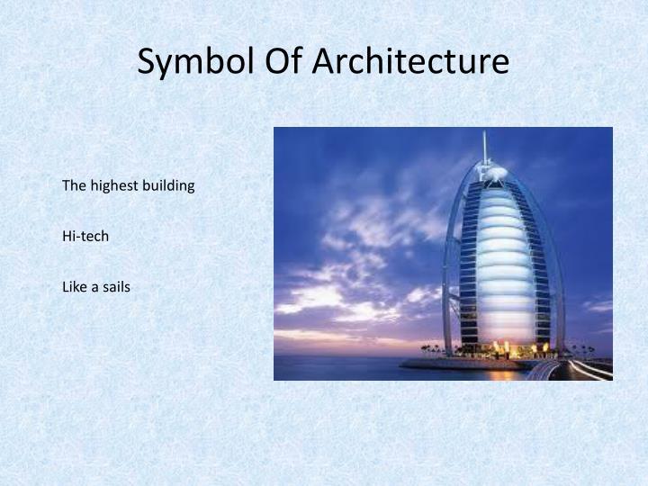 Symbol Of Architecture