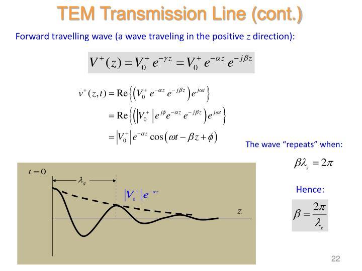 TEM Transmission Line (cont.)