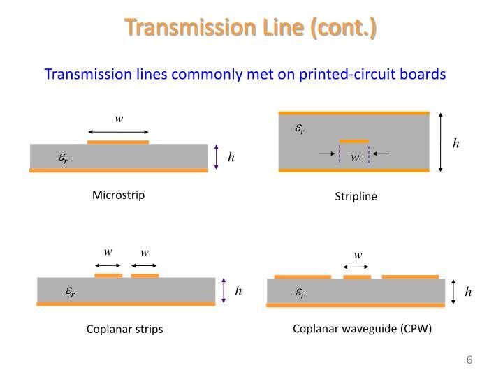 Transmission Line (cont.)