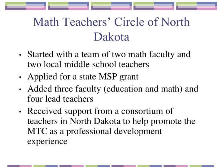 Math Teachers' Circle of North Dakota