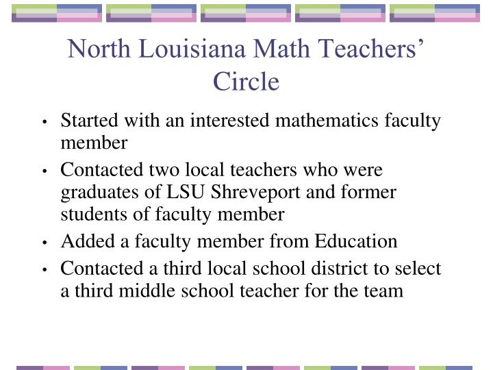North Louisiana Math Teachers' Circle