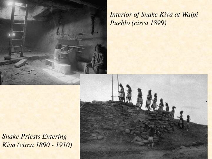 Interior of Snake Kiva at Walpi Pueblo (circa 1899)