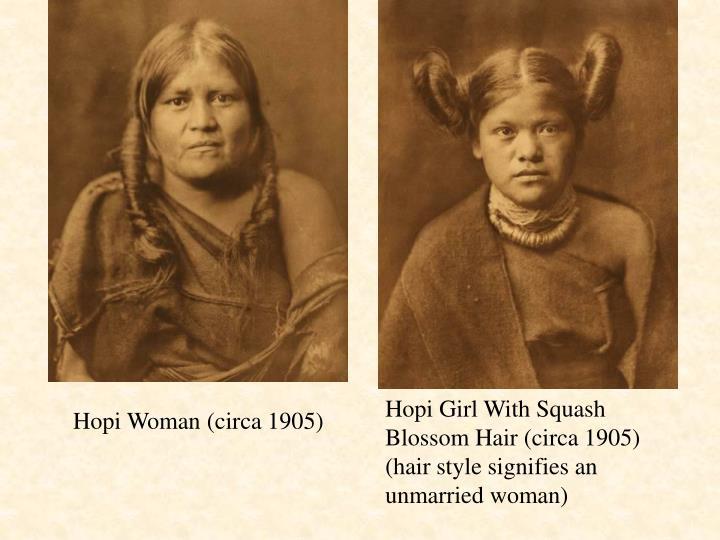 Hopi Girl With Squash Blossom Hair (circa 1905)