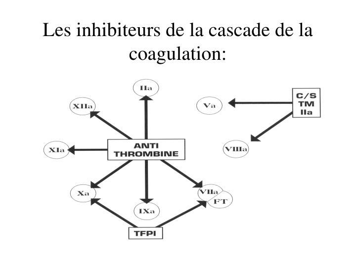 Les inhibiteurs de la cascade de la coagulation: