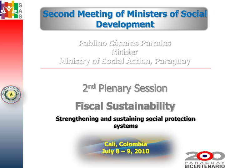 Second Meeting of Ministers of Social Development
