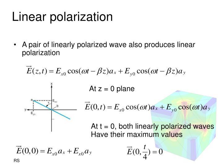 Linear polarization