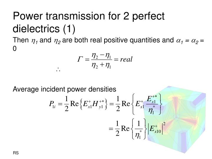 Power transmission for 2 perfect dielectrics (1)