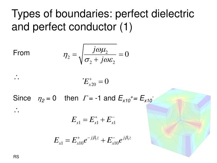 Types of boundaries: perfect dielectric and perfect conductor (1)