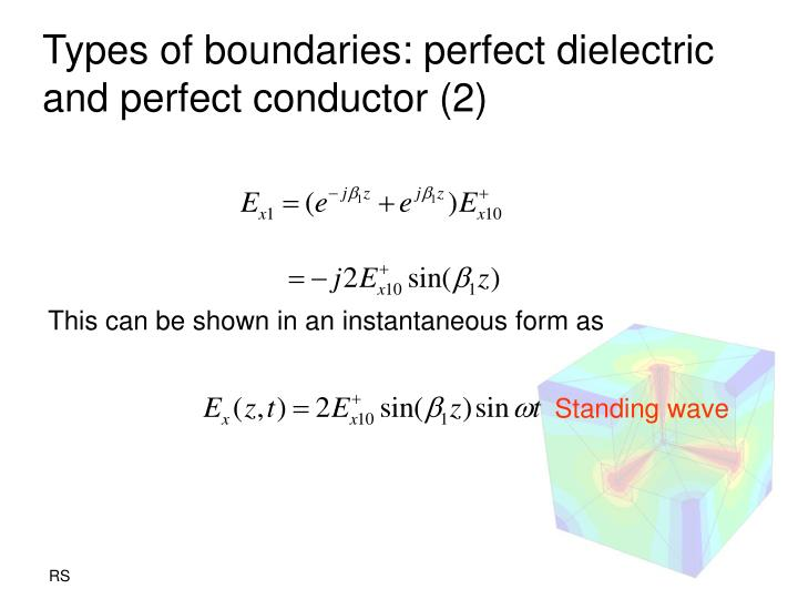 Types of boundaries: perfect dielectric and perfect conductor (2)