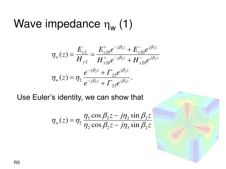 Wave impedance