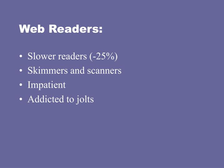 Web Readers: