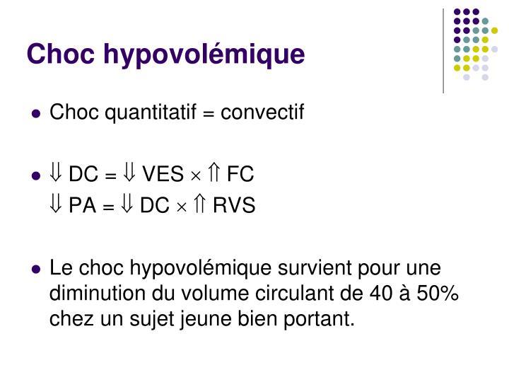 Choc hypovolémique