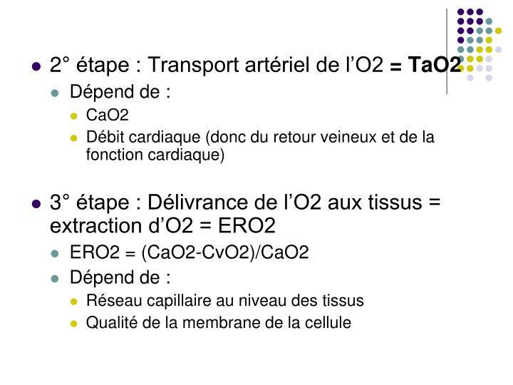2° étape : Transport artériel de l'O2