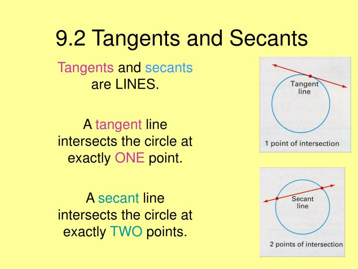 9 2 tangents and secants