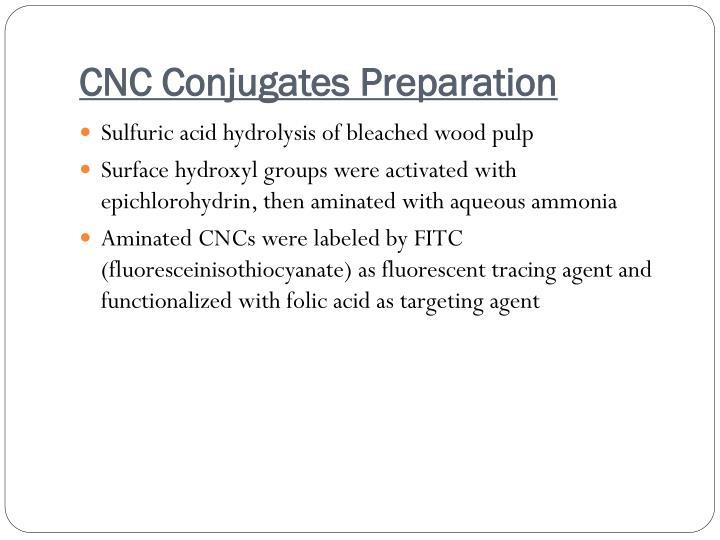 CNC Conjugates Preparation