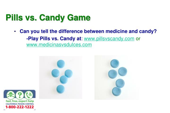 pills vs candy game