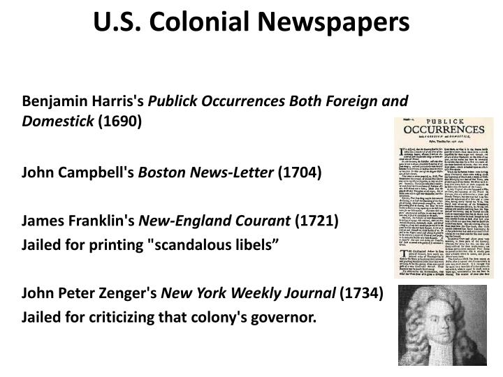 Colonial newspapers